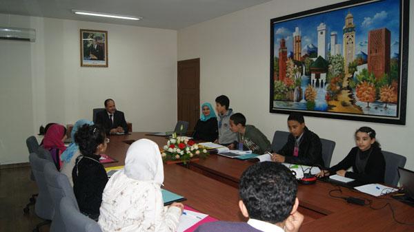 الدكتور أحمد عبادي يستقبل أعضاء نوادي مجلة الفطرة
