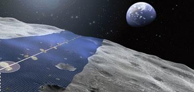 حزام شمسي ياباني حول القمر لتوليد الطاقة