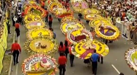 مهرجان سنوي للورود في كولومبيا