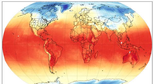 منظمة الأرصاد الجوية: يناير 2014 الأعلى في متوسط درجة حرارة الأرض