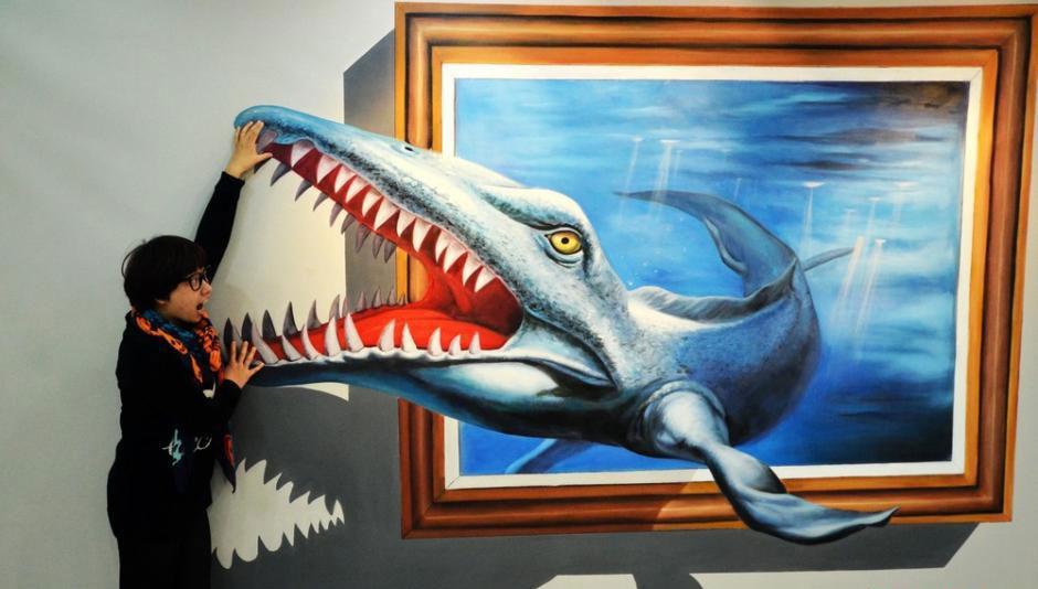 معرض للوحات الفينة ثلاثية الأبعاد