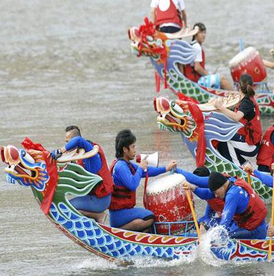مهرجان قوارب التنين في الصين