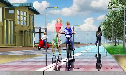 طرق للدراجات الهوائية لإنتاج الطاقة في هولندا