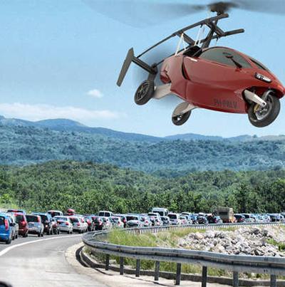 سيارات طائرة لتخفيف الازدحام المروري