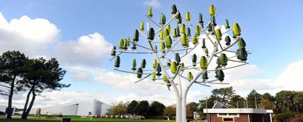 شجرة اصطناعية تنتج الكهرباء