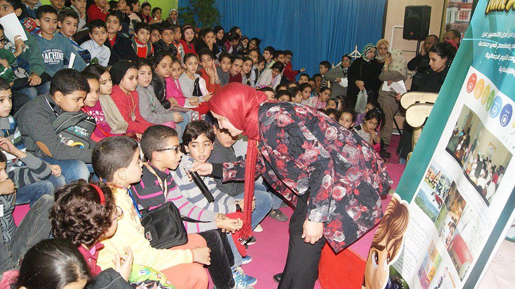 """احتفاء نادي العمران بإسهامات """"الشريف الإدريسي"""" و """"ابن بطوطة"""" بمعرض الدار البيضاء لكتاب الطفل والناشئة"""