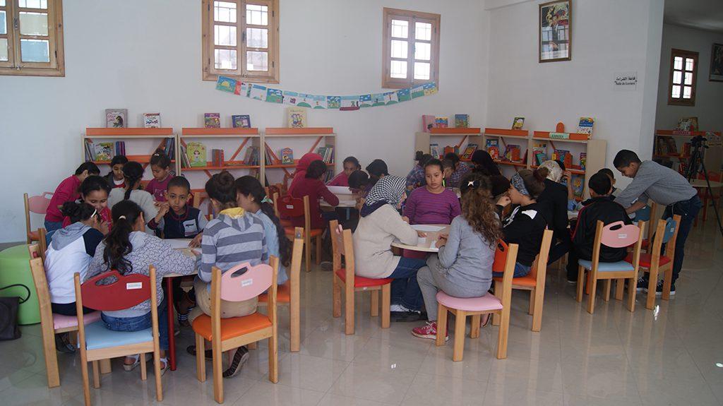 نادي الفنون في ورشة رسم فنية بدار الثقافة -المدينة القديمة- بالدارالبيضاء