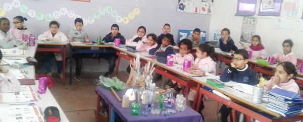 مبادرة بيئية لتلاميذ الأستاذة ناديا بلفاهم مدرسة ساحة الشهداء