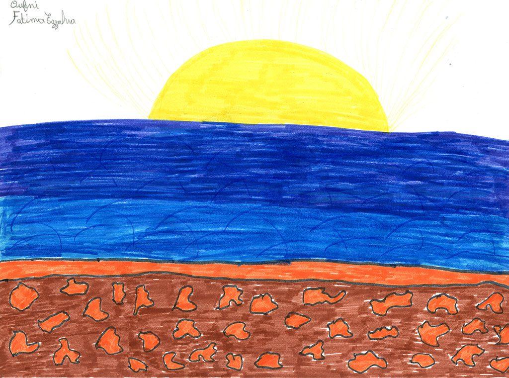 شروق الشمس منظر جميل يطل على البح