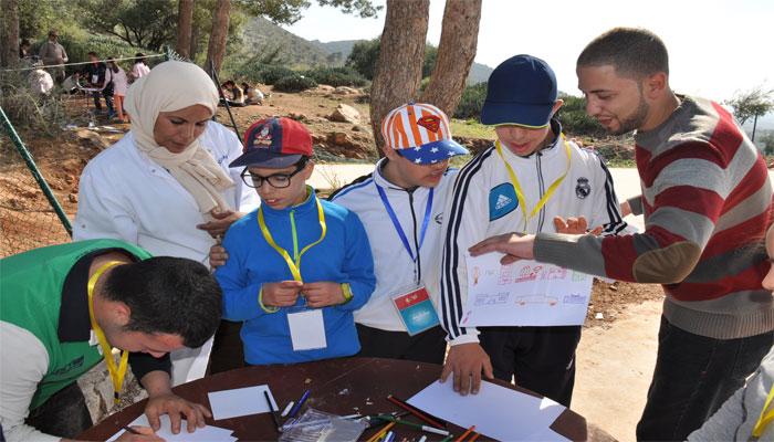 نادي الفنون ينظم ورشة رسم لذوي الاحتياجات الخاصة بعين أسردون ببني ملال