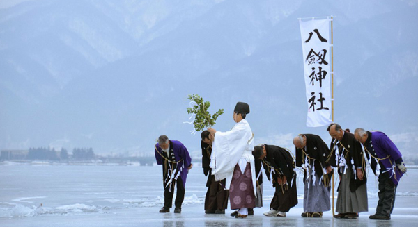 بحيرة سووا اليابانية