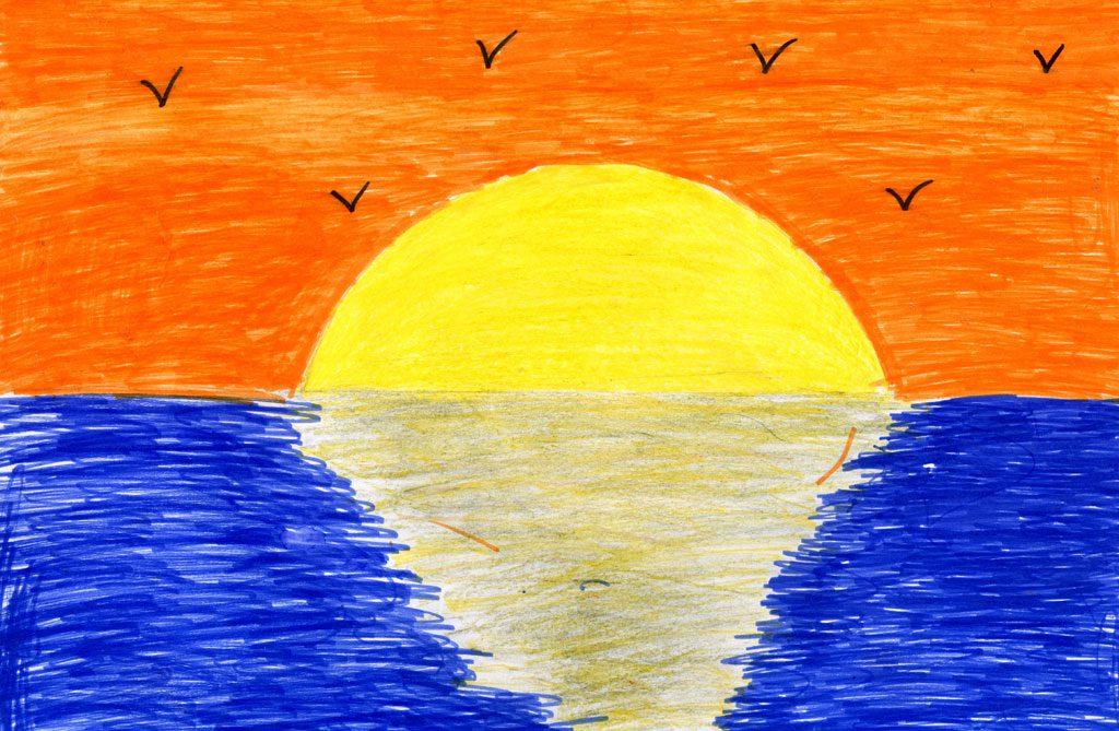 غروب الشمس العجيب
