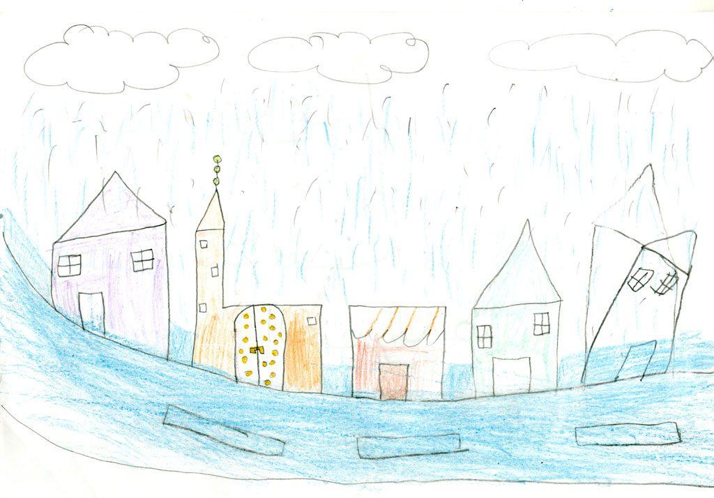 الأمطار الغزيرة تسبب الفيضانات