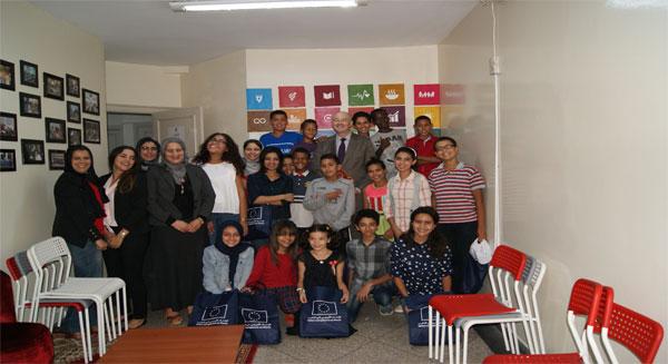 سفير الاتحاد الأوربي بالمملكة المغربية في لقاء تواصلي مع ناشئة وحدة الفطرة