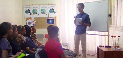 ورشة نادي العلوم حول تقنيات أخذ المعلومات وكيفية كتابة تقرير