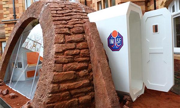 أول منزل للبشر على سطح المريخ يعرض في لندن