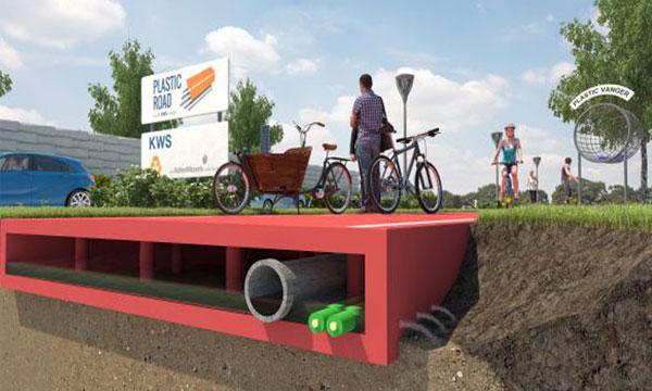 طرق بلاستيكية تظهر في هولندا عام 2017