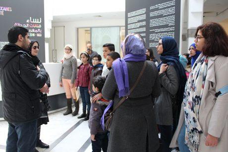 رواد وحدة الفطرة في زيارة استكشافية لمتحف محمد السادس للفن الحديث والمعاصر